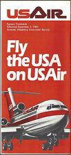 USAir system timetable 12/1/81 Buy 2 Get 1 Free