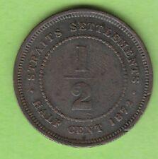 Straits Settlements 1/2 Cent 1872 H sehr schön nswleipzig