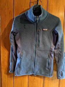 Patagonia Fleece jacket Hiking Walking Camping Top XS Navy Pockets