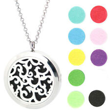 Rattan Stainless Essential Oils Aromatherapy Locket Diffuser Pendant Necklace