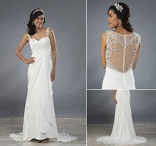 Alfred Angelo 2480 Ivory Satin Wedding Dress Size 14 Beautifully Beaded