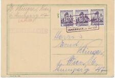 ÖSTERREICH SONDERSTEMPEL 1936 FIS-WETTKÄMPFE INNSBRUCK 20.Feber 1936 in VIOLETT