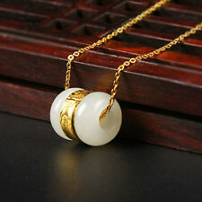 Gold-inlaid Jade and Hotan Jade Gold Necklace Transfer Pearl Jade Pendant