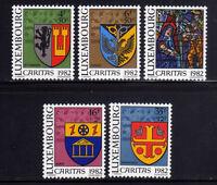 LUXEMBURGO/LUXEMBOURG 1982 MNH SC.B337/B341 Coats of Arms