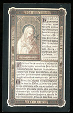 ANTIQUE HOLY CARD SILVERED OF ST MARY