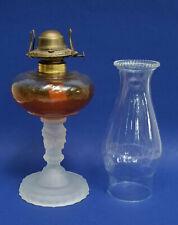 ANTIQUE EAPG DUNCAN THREE FACE OIL LAMP w/ EAGLE BURNER