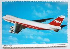 TWA - Trans World Airlines Boeing 747 Postcard