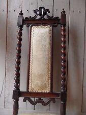 Antique Vintage Shabby Chic Gothic Church Mahogany PRAYER Barley Twist Chair