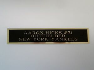Aaron Hicks Yankees Autograph Nameplate For A Baseball Jersey Case Photo 1.25X6
