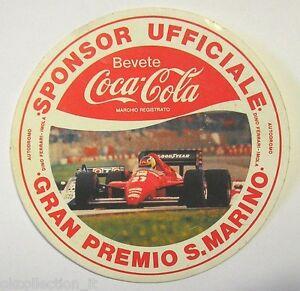VECCHIO ADESIVO / Old Sticker COCA COLA FERRARI F1 IMOLA GP SAN MARINO (cm 9)
