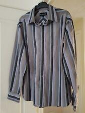 Men's Autograph Smart Grey Mix Striped Shirt, Size M (Chest 38/40'') VGC