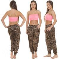 New Womens Ladies Ali Baba Harem Leopard Animal Print Trousers Pants S M L XL 8