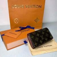 Louis Vuitton Sarah Porte Wallet Monogram Zippy Speedy Neverfull AUTHENTIC + Box