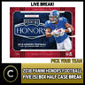 2018 PANINI HONORS FOOTBALL 5 BOX (HALF CASE) BREAK #F143 - PICK YOUR TEAM