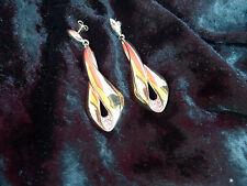 beautiful,large fancy Earrings / Stud_ Glitter_gold plated___Pierre Lang___