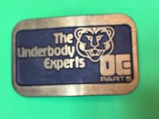 The Underbody Experts DE Parts engine auto car  Promo belt buckle by Dynabuckle