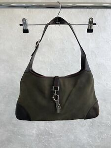 Gucci Jackie O Hobo Bag Brown Claw Clasp