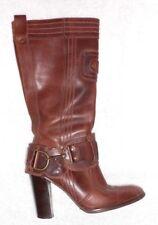 DIESEL bottes zippées cuir marron P 39 (8½) TBE