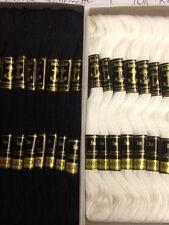 Anchor Cross Stitch Cotton Embroidery Thread Floss/Skeins BLACK/WHITE/ METALLIC