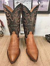 STERLING HANDMADE COWBOY BOOTS 9.5D SNIP TOE EXCELLENT CONDITION OILED CALF