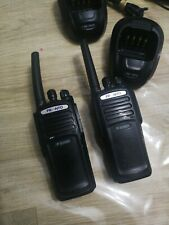 Pronto P-9200 UHF Digital Two Way Radio/Walkie Talkie pair X2 commercial used