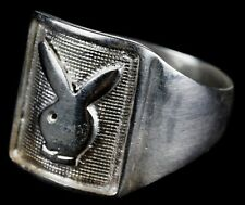 Positive RABBIT Erotic STYLE Jewelry GIFT 4.2 g Unisex SILVERplate Bronze Size10