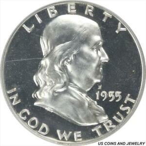 1955 Franklin Half Dollar Proof PCGS PR66CAM CAMEO PROOF