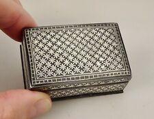 Antique Russian Niello Silver Snuff Box     - 58782