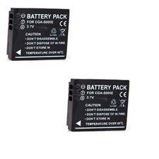 TWO Batteries for Panasonic CGA-S005 CGA-S005A CGA-S005A/1B CGA-S005E DMW-BCC12