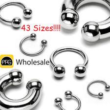 Steel Horseshoe Bar Circular Barbell Ear Nose Nipple Septum Helix Ring Earring
