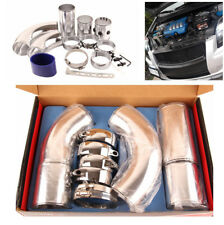 """3"""" Aluminum Air Intake Combined Pipe Kit Turbo Cold Air Filter Induction System"""