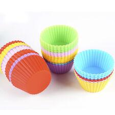 24 Silikon Kuchen Muffinform Mehrfarbig Backförmchen Back-Förmchen Cupcake Set