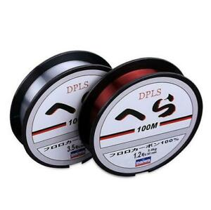 HOT Strong Fishing Line Japanese 100m Nylon Transparent Fluorocarbon Tackle Line