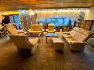 exklusive Wohnzimmer Ledercouch Garnitur, mit Relax Funktion NP 17.000 €