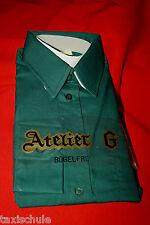 Original 50er Jahre Herren Oberhemd Hemd Gr.38 Dunkel Grün Langarm Vintage Retro