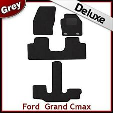 Ford Grand C-Max 2011 onwards Oval Eyelets Tailored LUXURY 1300g Car Mats GREY