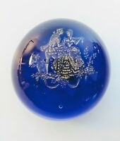 Murano Glass Paperweight Courting Couple Cobalt Blue w/ Label - Archimede Seguso