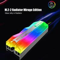 Jonsbo M.2-2 RGB Light M.2 SSD Heatsink 5V 3Pin Solid State Drive Cooler for PC