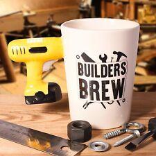 Builders Brew Man Mug Power Drill Fun Tea Coffee Cup Carpenter Secret Santa Gift