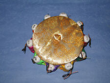 Chinese Satin Handmade Sewing Box ( #10 Kids ) Golden colour