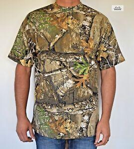 REALTREE EDGE Camo Hunting Fishing Camping Hiking Performance T-shirt Cotton
