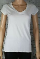 Wearing Your Heart on Your Sleeve White V-Neck quality T-Shirt Made in Peru S