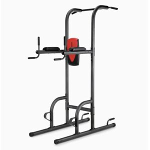 Weider Power Tower w/ Four Workout Stations Push Pull Up AB & Dip Exercise Gym