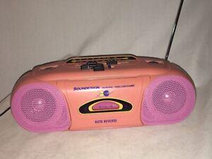 1980s SOUND DESIGN COLOR TUNES BOOMBOX VINTAGE PINK PEACH 4635HPK PURPLE