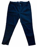 "Lane Bryant Jeans Sz 24 Pants Black Denim Mid Rise Skinny Stretch 29"" Inseam"