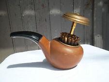 Ancien porte cigarette en cuir en forme de pipe vintage