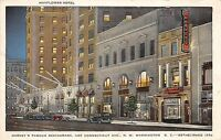 Washington D.C. District of Columbia Postcard Old MAYFLOWER HOTEL Building 12