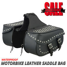 Motorcycle Saddle Bags Motorbike Leather Luggage Saddle Bags Pannier Universal