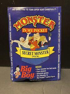 VTG MONSTER IN MY POCKET BIG BOY SERIES 3 MATCHBOX 1992 SEALED PACK UNOPENED HTF