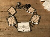 Recycled Broken Porcelain Jewelry, Mary Kay Bee Bracelet